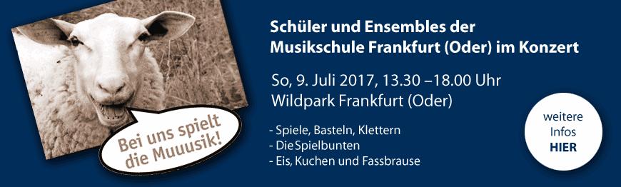 Konzert Ankündigung Wildpark 2017