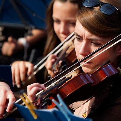 Jugendorchester Geigerin