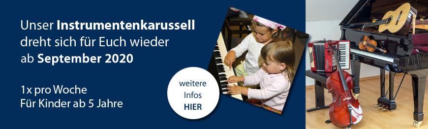 Ankündigung Instrumentenkarussell Musikschule 2020