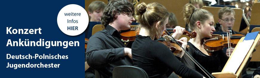 Konzertankündigungen Jugendorchester