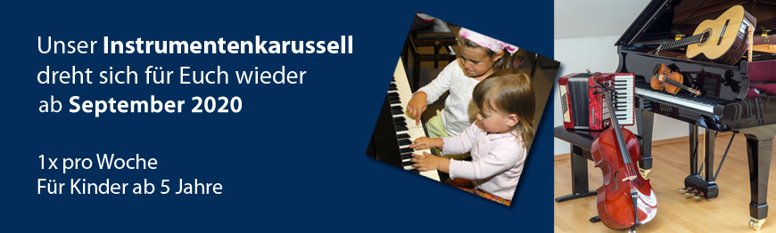 Kinder und Musikinstrumente, Instrumentenkarussell Musikschule ab September 2020